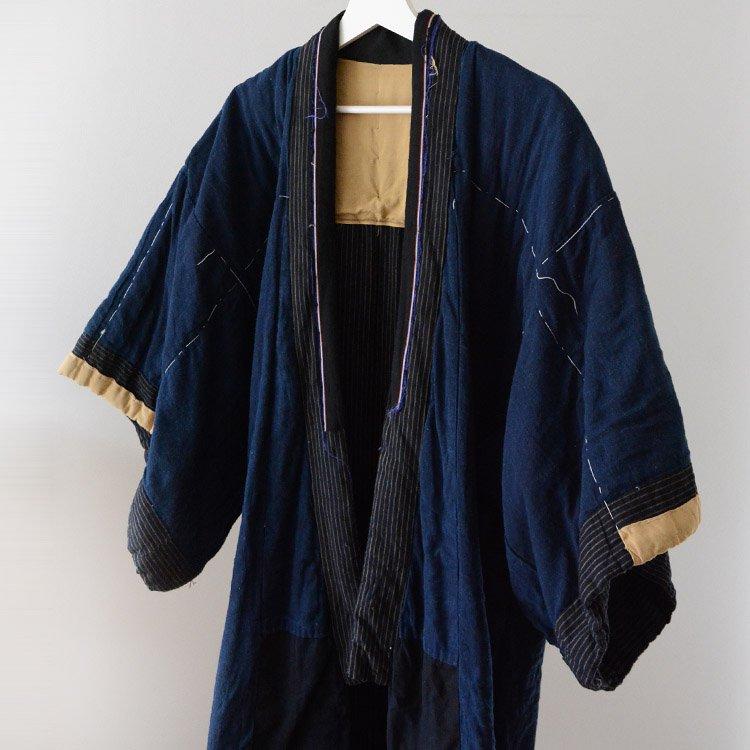 Hanten Padded Indigo Kimono Coat Japan Vintage 30〜40s | 丹前 綿入れ 着物 藍染 ジャパンヴィンテージ 30〜40年代