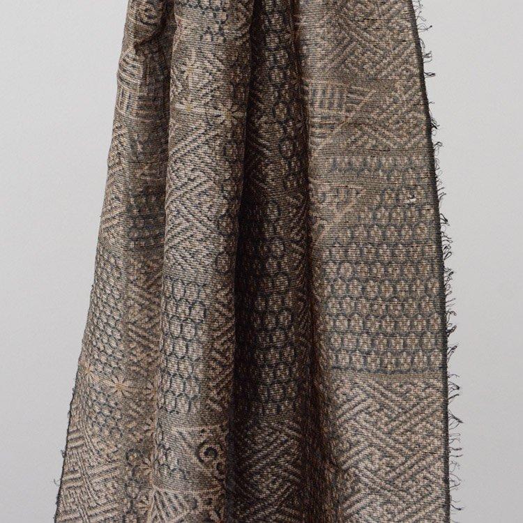 大島紬 古布 反物 正絹 ジャパンヴィンテージ スカーフ〜ストール | Oshima Tsumugi Japanese Fabric Vintage Silk Scarf Stole