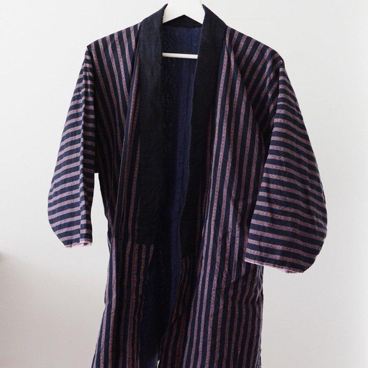 野良着 古着 縞模様 木綿 着物 ジャパンヴィンテージ | Noragi Jacket Japan Vintage Cotton Stripe 30〜40s
