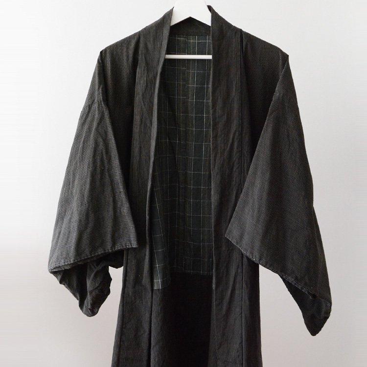羽織 着物 男 ジャパンヴィンテージ 縞模様 襤褸 40〜50年代   Haori Jacket Men Stripe Kimono Japan Vintage