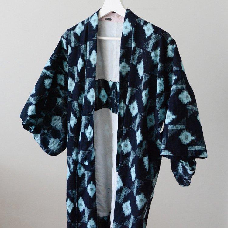 野良着 古着 藍染 絣 木綿 着物 ジャパンヴィンテージ 30〜40年代 | Noragi Vintage Japanese Kimono Jacket Kasuri Fabric Indigo