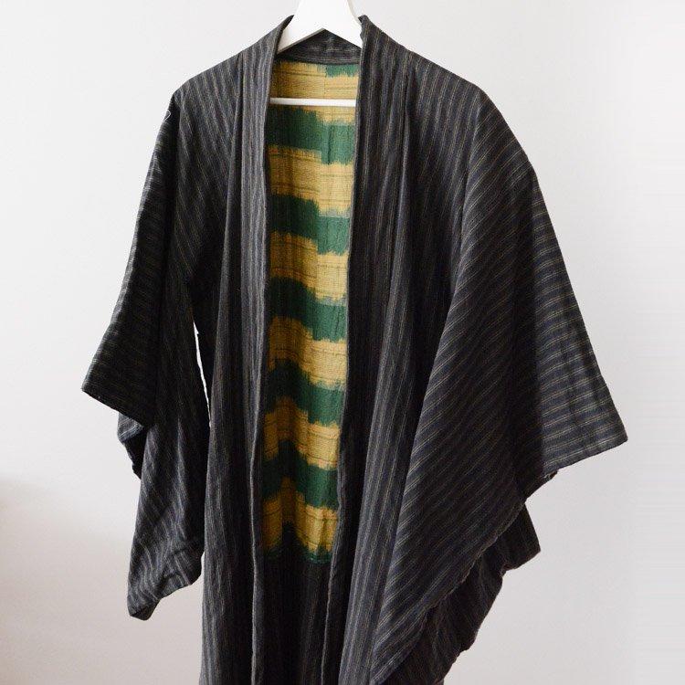 羽織 着物 木綿 ジャパンヴィンテージ 縞模様 30〜50年代 | Haori Kimono Jacket Cotton Stripe Japan Vintage 30〜50s