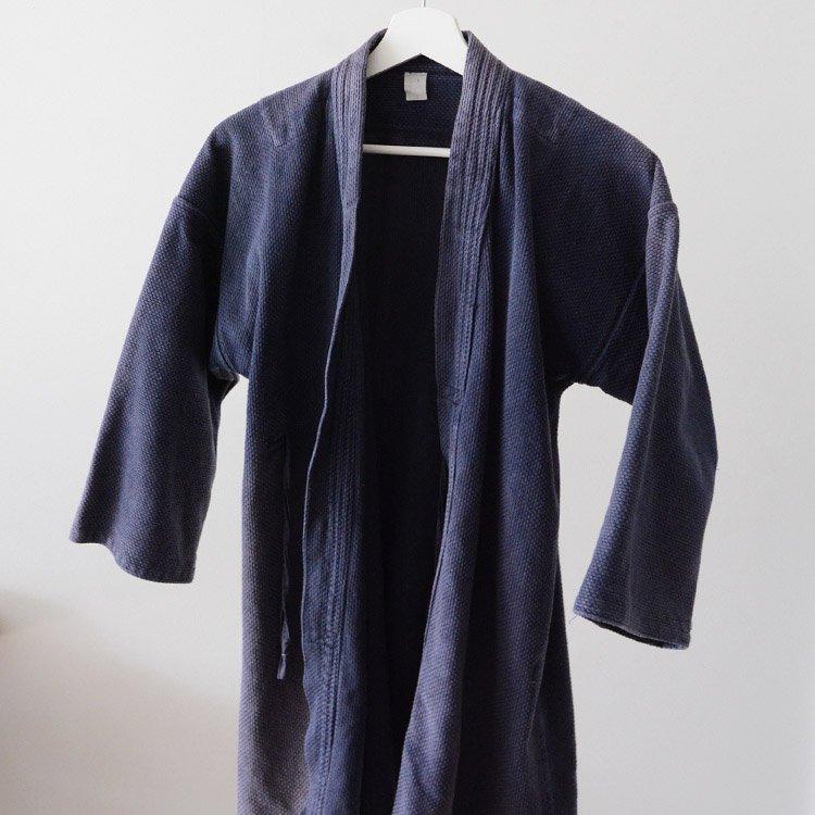 剣道着 刺し子 ジャパンヴィンテージ 茄子紺 昭和 平成   Kendo Gi Sashiko Jacket Faded Color Cotton Japan Vintage
