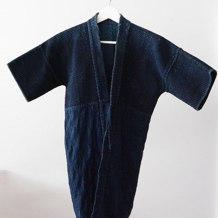 火消し 半纏 藍染 刺し子 消防 法被 ジャパンヴィンテージ 道着 | Japanese Fireman Sashiko Hanten Jacket  Indigo Blue Happi