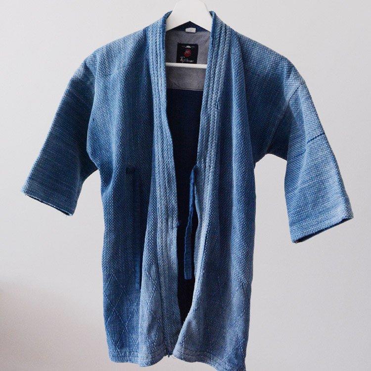剣道着 藍染 襤褸 刺し子 木綿 ジャパンヴィンテージ 平成 | Kendo Gi Sashiko Jacket Indigo Blue Aizome Japanese Boro
