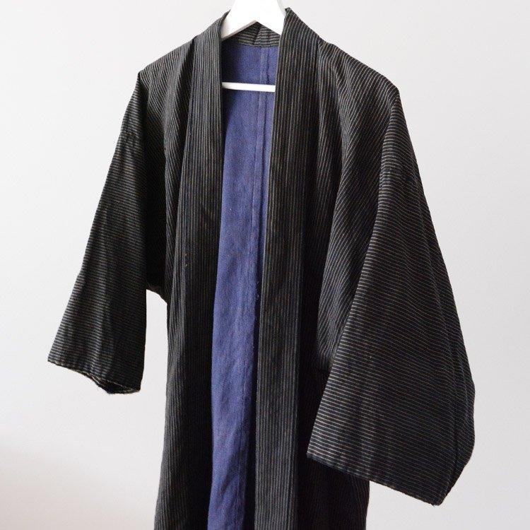 野良着 古着 木綿 縞模様 ジャパンヴィンテージ 20〜30年代 | Noragi Jacket Japanese Vintage Kimono Cotton Stripe 20〜30s