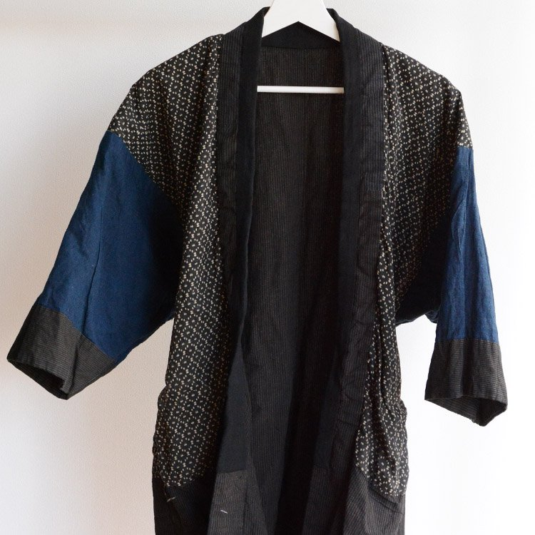 野良着 古着 藍染 クレイジーパターン ジャパンヴィンテージ 大正 | Noragi Jacket Men Crazy Pattern Indigo Fabric Japan Vintage