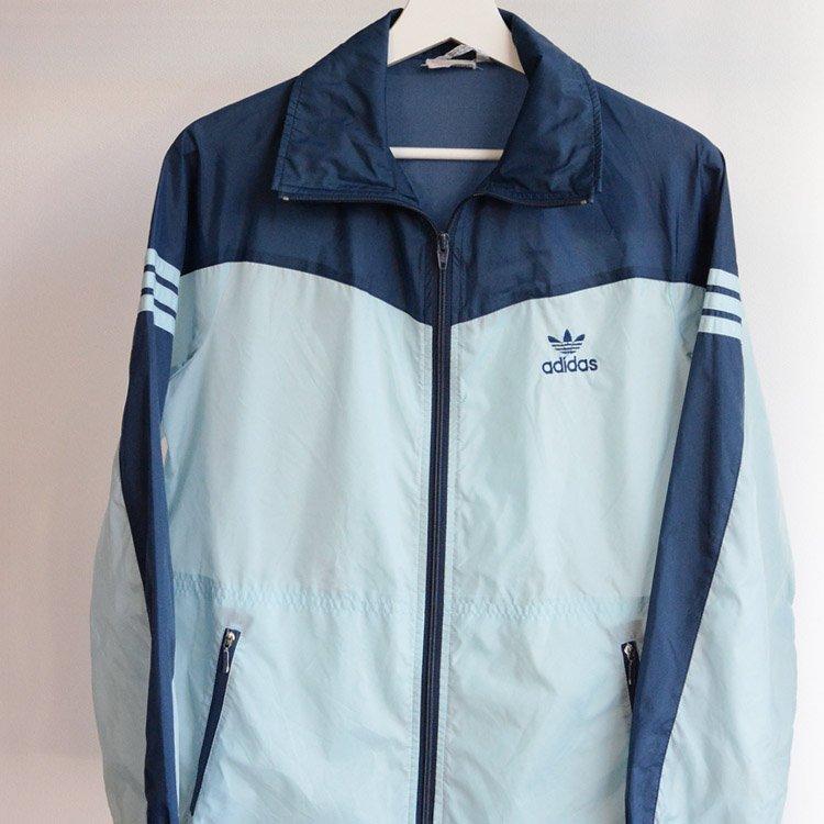 アディダス ナイロンジャケット 80年代 デサント ジャパンヴィンテージ 三本線 | adidas Descente Nylon Jacket Japan Vintage 80s