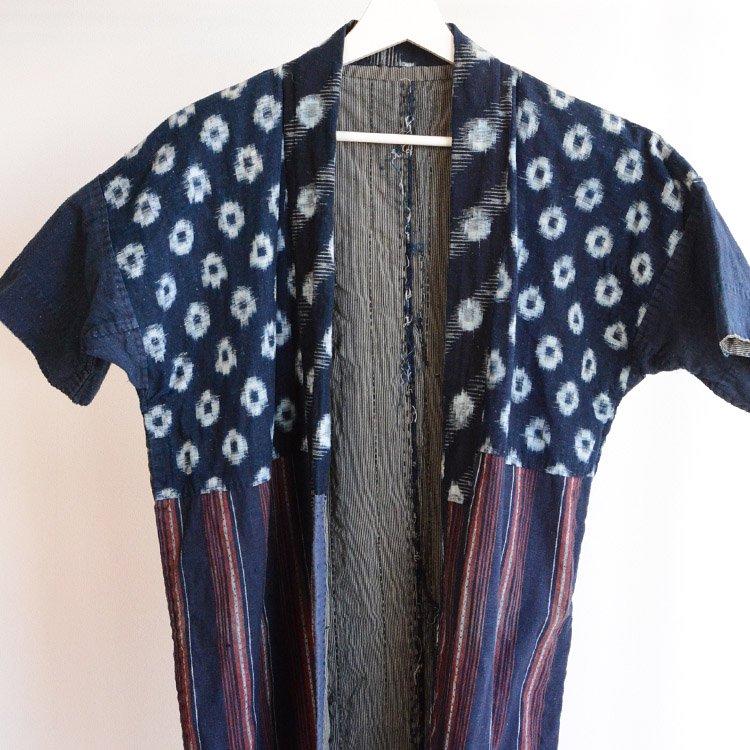 野良着 刺し子 藍染 クレイジーパターン 絣 ジャパンヴィンテージ 明治 大正 | Noragi Jacket Sashiko Indigo Crazy Pattern Japan Vintage