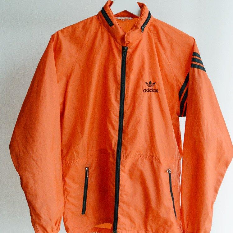 デサント アディダス ナイロンジャケット 80年代 ジャパンヴィンテージ フード付 | Descente adidas Nylon Jacket Japan Vintage 80s