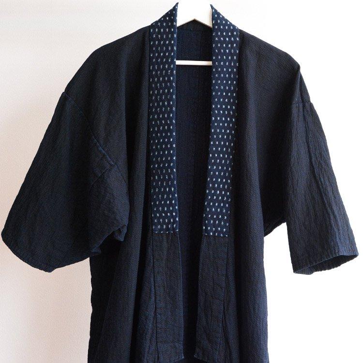野良着 刺し子 藍染 雪ん子絣 無地 浜着 ドンザ ジャパンヴィンテージ 明治 大正 | Noragi Jacket Indigo Sashiko Kasuri Japan Vintage