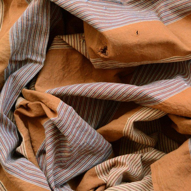 風呂敷 古布 木綿 大判 ジャパンヴィンテージ ファブリック | Furoshiki Vintage Japanese Fabric Cotton Stripe Large Size 50s