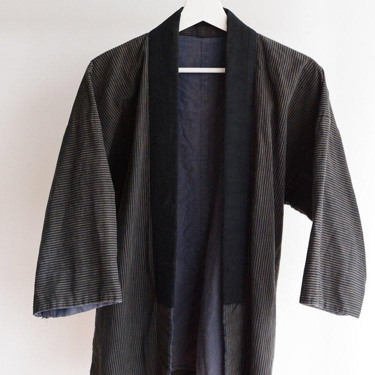 野良着 古着 ジャパンヴィンテージ 縞模様 襤褸 20〜30年代 木綿 着物 | Noragi Jacket Men Cotton Stripe Japan Vintage 20s 30s