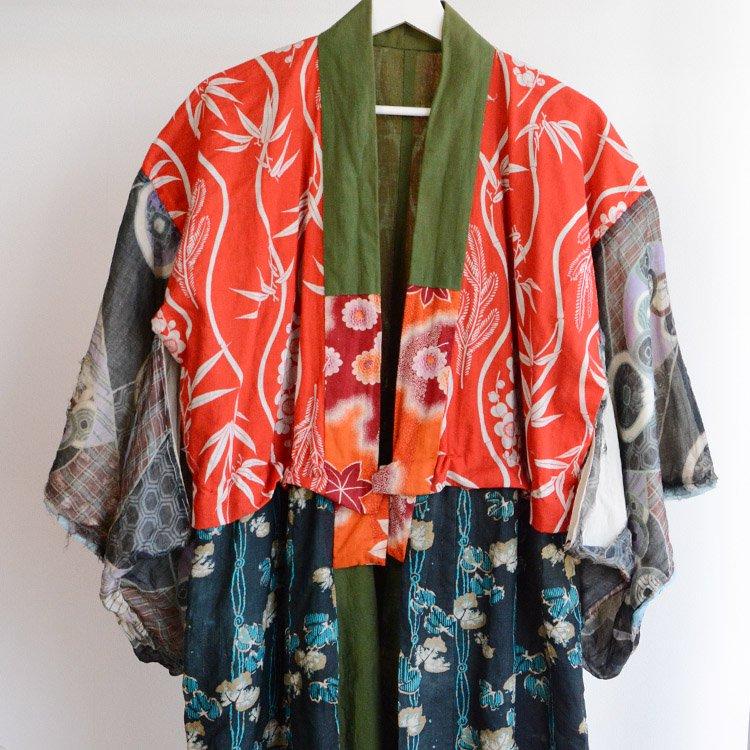長襦袢 着物 クレイジーパターン 襤褸 ジャパンヴィンテージ 大正 昭和 | Juban Kimono Crazy Pattern Boro Patchwork Japan Vintage