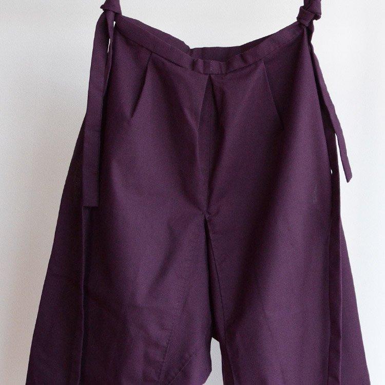 もんぺ パンツ 着物 ジャパンヴィンテージ マルーン 40〜50年代   Monpe Kimono Pants Japan Vintage 40s 50s Maroon