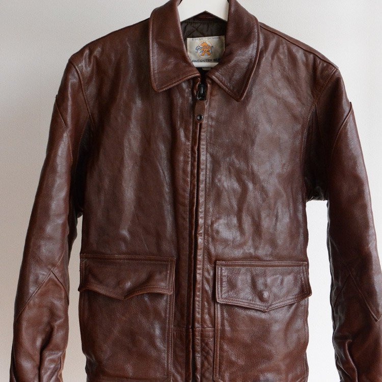 ゴールデンベア レザージャケット クレイジーパターン ヴィンテージ 80年代 アメリカ製 | Golden Bear Vintage Leather Jacket 80s Made in USA