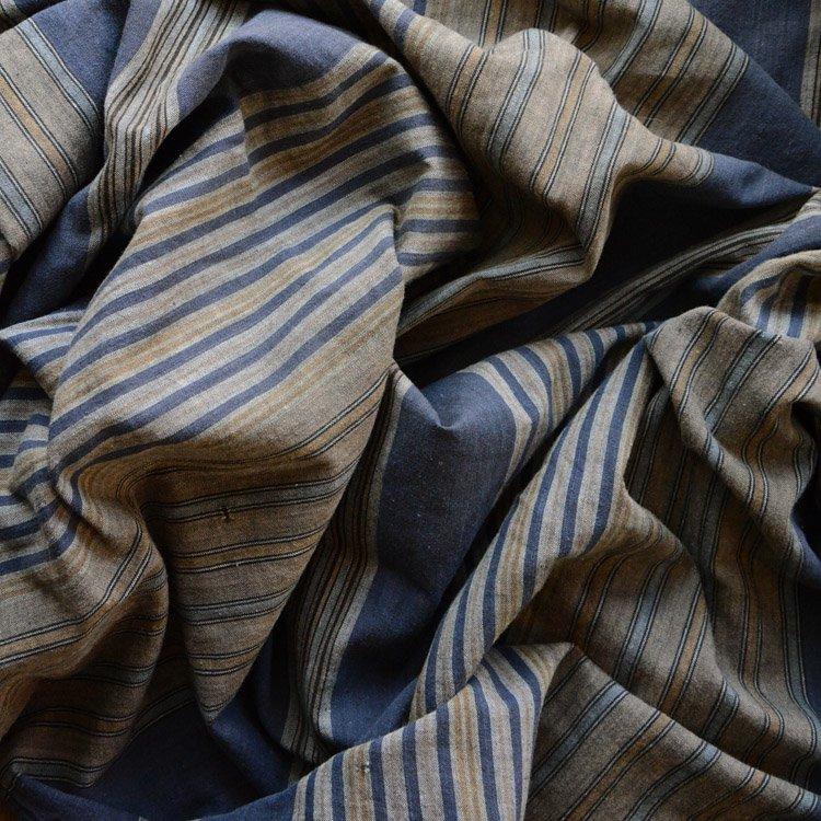 古布 風呂敷 縞模様 木綿 ジャパンヴィンテージ ファブリック | Furoshiki Vintage Japanese Fabric Cotton Stripe Textile 30〜50s