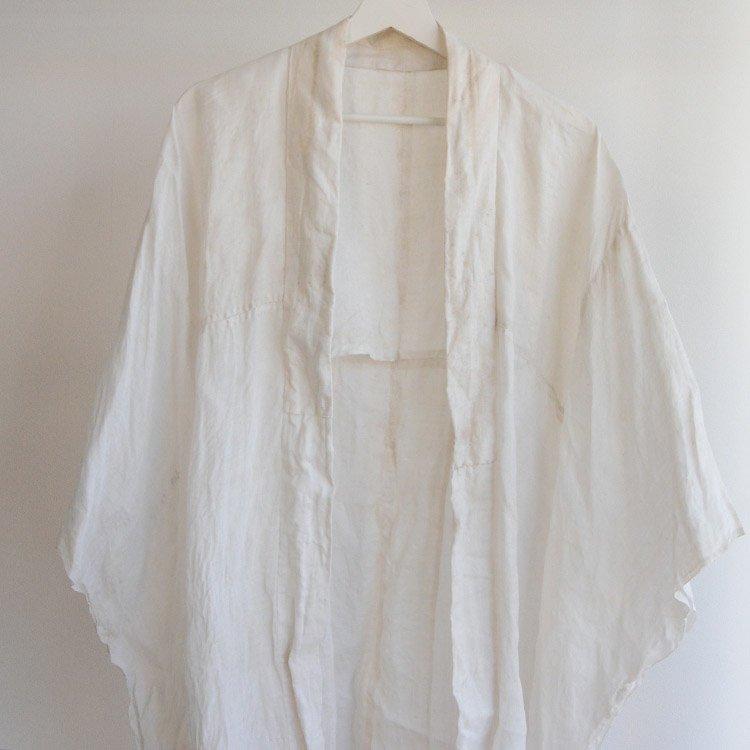 襦袢 着物 木綿 麻混? アンティーク着物 ジャパンヴィンテージ 明治 大正   Juban Kimono Jacket Japan Vintage Antique Cotton Hemp