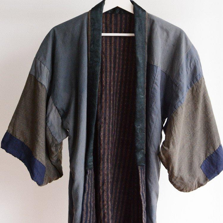 野良着 古着 クレイジーパターン つぎはぎ ジャパンヴィンテージ 大正 昭和 | Noragi Jacket Japanese Vintage Kimono Crazy Pattern Patch
