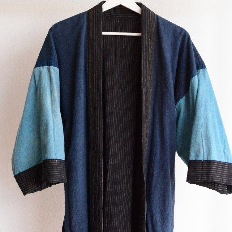野良着 藍染 つぎはぎ クレイジーパターン 木綿 ジャパンヴィンテージ 大正 昭和 | Noragi Jacket Indigo Kimono Crazy Pattern Japan Vintage