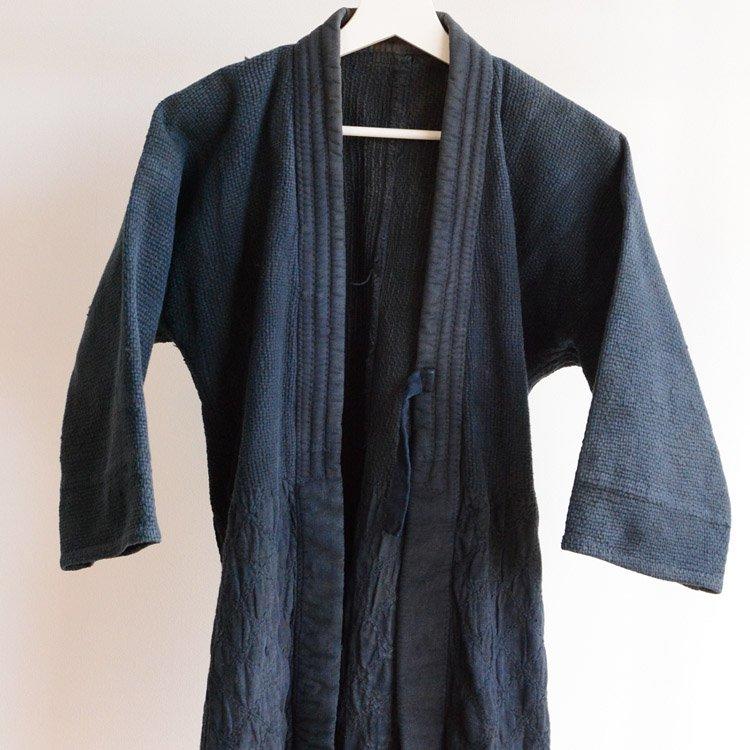 手刺し 剣道着 ジャパンヴィンテージ 木綿 昭和 | Kendo Jacket Sashiko Fabric Japan Vintage Cotton