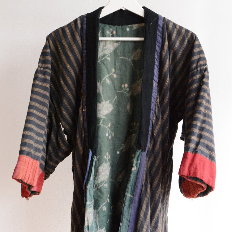 野良着 襤褸 着物 つぎはぎ 木綿 ジャパンヴィンテージ 大正 昭和   Noragi Jacket Boro Kimono Crazy Patchwork Japan Vintage 20〜30s