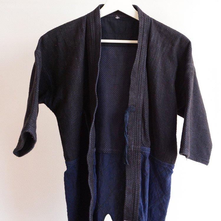 剣道着 刺し子 腰下ダイヤ織 ジャパンヴィンテージ 木綿 | Kendo Jacket Sashiko Fabric Japan Vintage Cotton