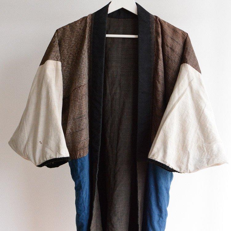 着物 襤褸 藍染布 クレイジーパターン ジャパンヴィンテージ 大正 昭和 | Kimono Jacket Vintage Crazy Pattern Japanese Indigo Fabric