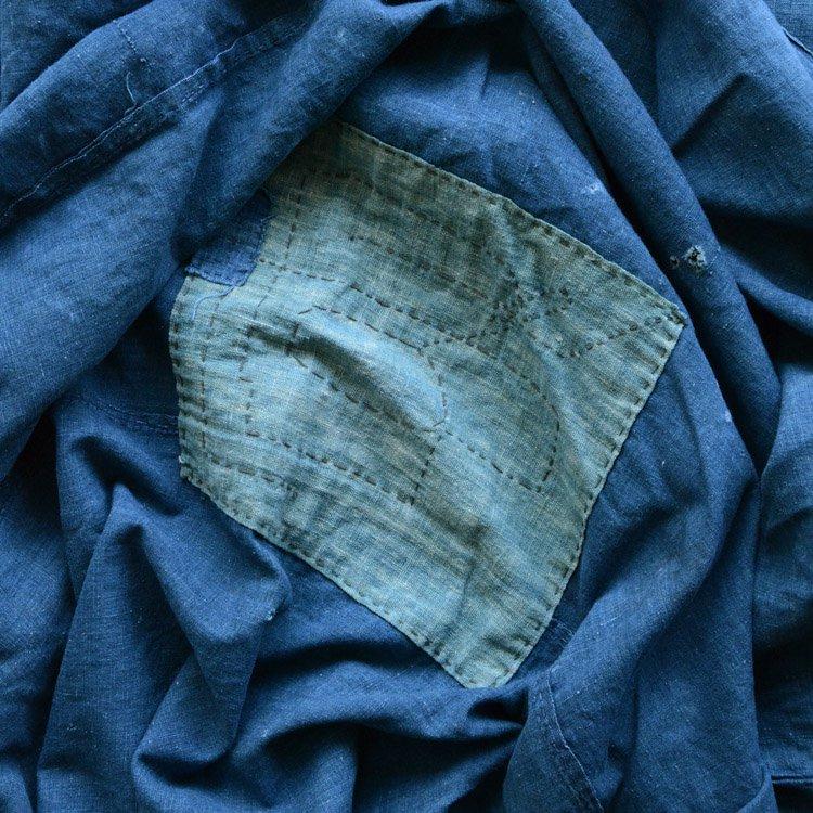 <img class='new_mark_img1' src='https://img.shop-pro.jp/img/new/icons8.gif' style='border:none;display:inline;margin:0px;padding:0px;width:auto;' />襤褸 刺し子 古布 藍染 つぎはぎ ジャパンヴィンテージ ファブリック 明治 大正 | Indigo Fabric Japanese Boro Vintage Sashiko Cotton Cloth