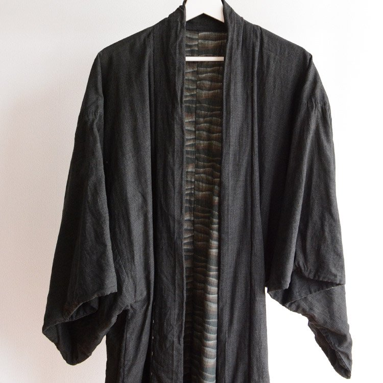 羽織 着物 男 襤褸 つぎはぎ ジャパンヴィンテージ 30年代 | Haori Men Kimono Jacket Boro Japan Vintage 30s