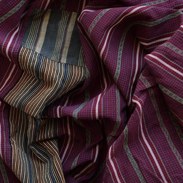 布団皮 古布 襤褸 つぎはぎ リペア ジャパンヴィンテージ ファブリック | Japanese Fabric Vintage Futon Cover Boro Kofu Old Textile