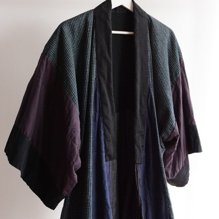 着物 つぎはぎ 刺し子 クレイジーパターン ジャパンヴィンテージ 昭和 | Kimono Coat Crazy Patchwork Sashiko Japan Vintage