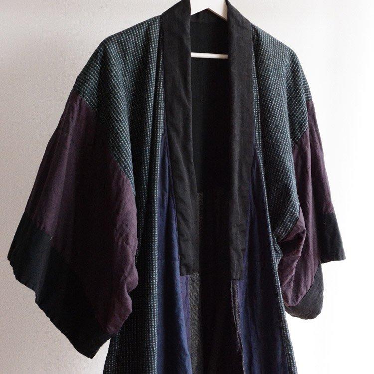 <img class='new_mark_img1' src='https://img.shop-pro.jp/img/new/icons8.gif' style='border:none;display:inline;margin:0px;padding:0px;width:auto;' />着物 つぎはぎ 刺し子 クレイジーパターン ジャパンヴィンテージ 昭和 | Kimono Coat Crazy Patchwork Sashiko Japan Vintage