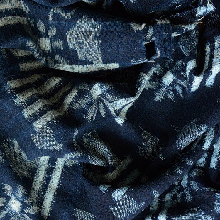 古布 藍染 絣 襤褸 はぎれ 木綿 ジャパンヴィンテージ ファブリック | Japanese Indigo Fabric Vintage Kasuri Cotton 30s Scraps