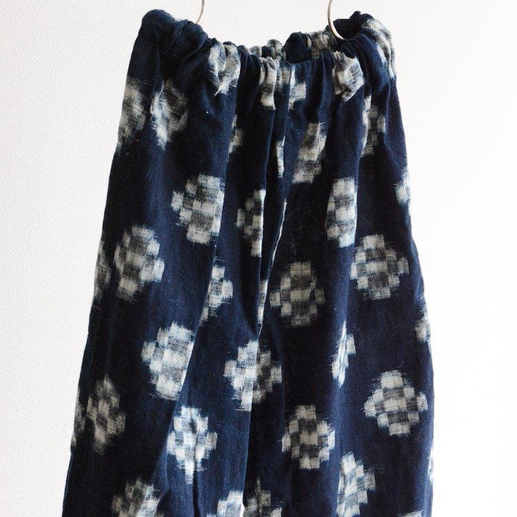 もんぺ パンツ 藍染 絣 木綿 ゴム ジャパンヴィンテージ 昭和 子供用 | Monpe Pants Japanese Vintage Kasuri indigo Fabric Kids