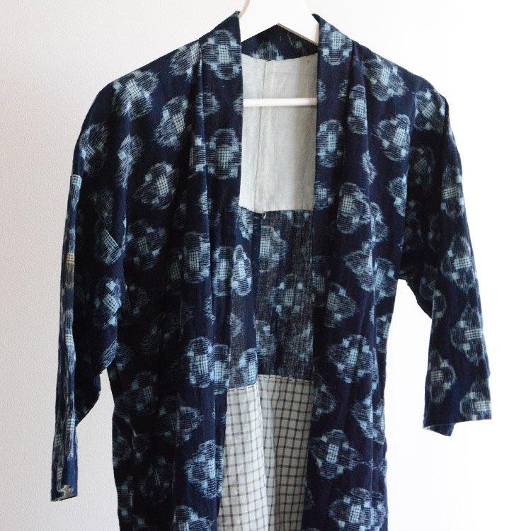 野良着 藍染 絣 木綿 着物 ジャパンヴィンテージ 30〜40年代 | Noragi Jacket Indigo Kimono Kasuri Fabric Japan Vintage Cotton
