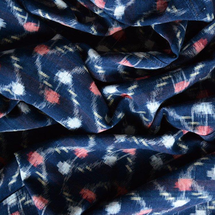 古布 藍染 絣 木綿 大判 ジャパンヴィンテージ ファブリック 昭和 | Indigo Fabric Japanese Vintage Textile Cotton Aizome Boro