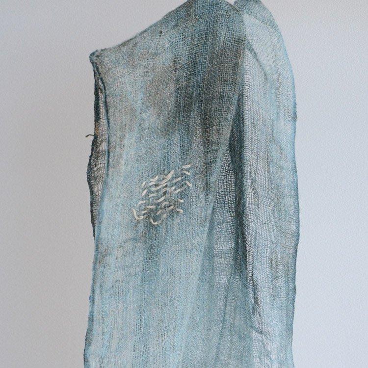 古布 麻 襤褸 刺し子 ジャパンヴィンテージ ファブリック スカーフ 明治 | Indigo Fabric Japanese Vintage Textile Hemp Boro
