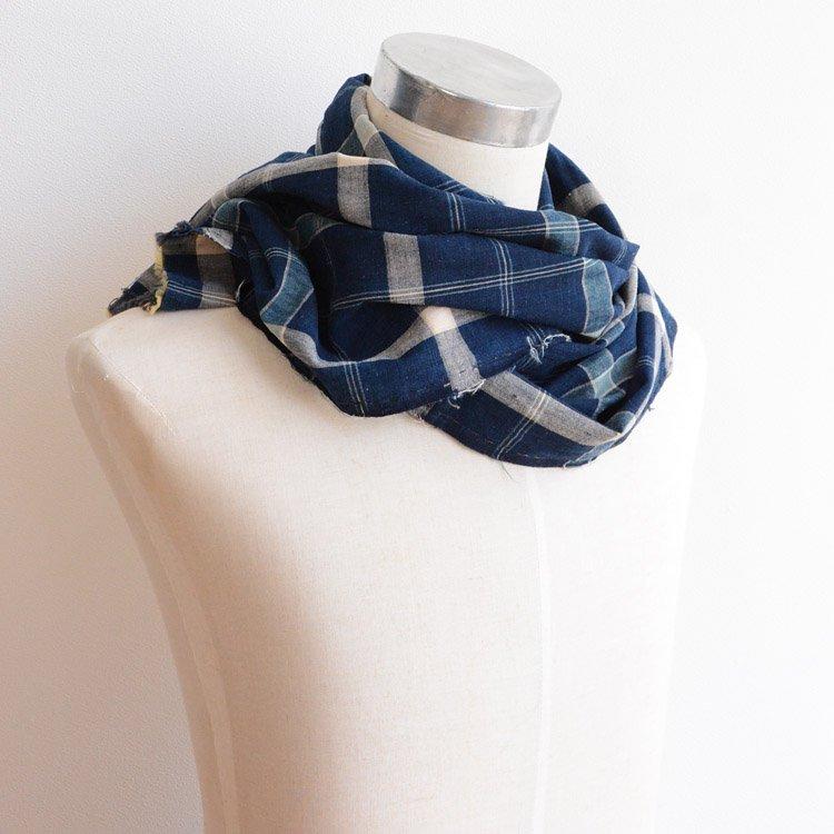 古布 藍染 スカーフ 木綿 ジャパンヴィンテージ ファブリック テキスタイル | Indigo Fabric Japanese Vintage Textile Aizome Cotton Scarf
