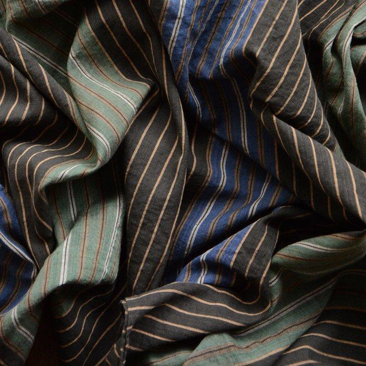 風呂敷 古布 木綿 ジャパンヴィンテージ ファブリック 縞模様 テキスタイル 昭和 | Furoshiki Wrapping Cloth Japan Vintage Textile 50s