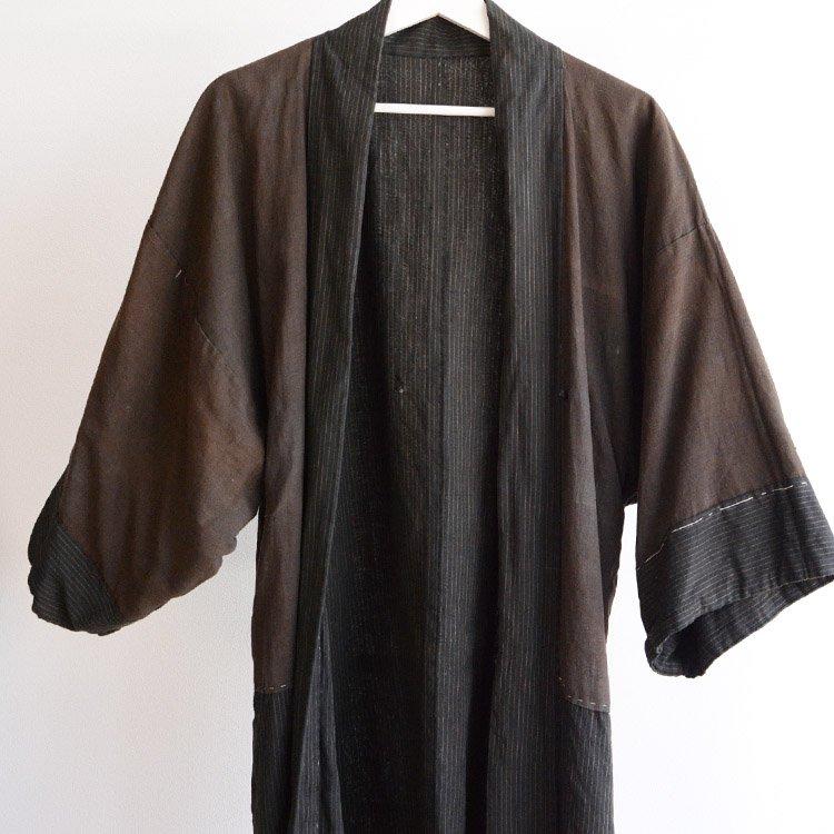 羽織 男 着物 襤褸 ジャパンヴィンテージ 30年代 縞模様 | Haori Men Japanese Vintage Kimono Stripe 30s