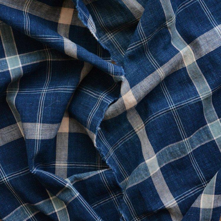 古布 藍染 襤褸 スカーフ 木綿 ジャパンヴィンテージ ファブリック テキスタイル | Indigo Fabric Boro Scarf Japanese Vintage Textile Cotton