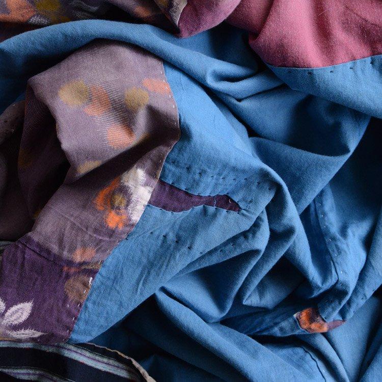 襤褸布 藍染 パッチワーク ジャパンヴィンテージ ファブリック 大正 昭和   Boro Fabric Crazy Patchwork Japanese Fabric Vintage Indigo