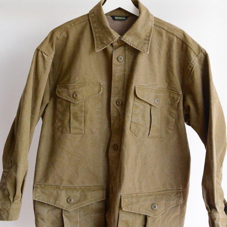 ブッシュジャケット ダック地 コットン ジャパンヴィンテージ 90年代   Bush Jacket Japan Vintage Cotton Duck Fabric 90s