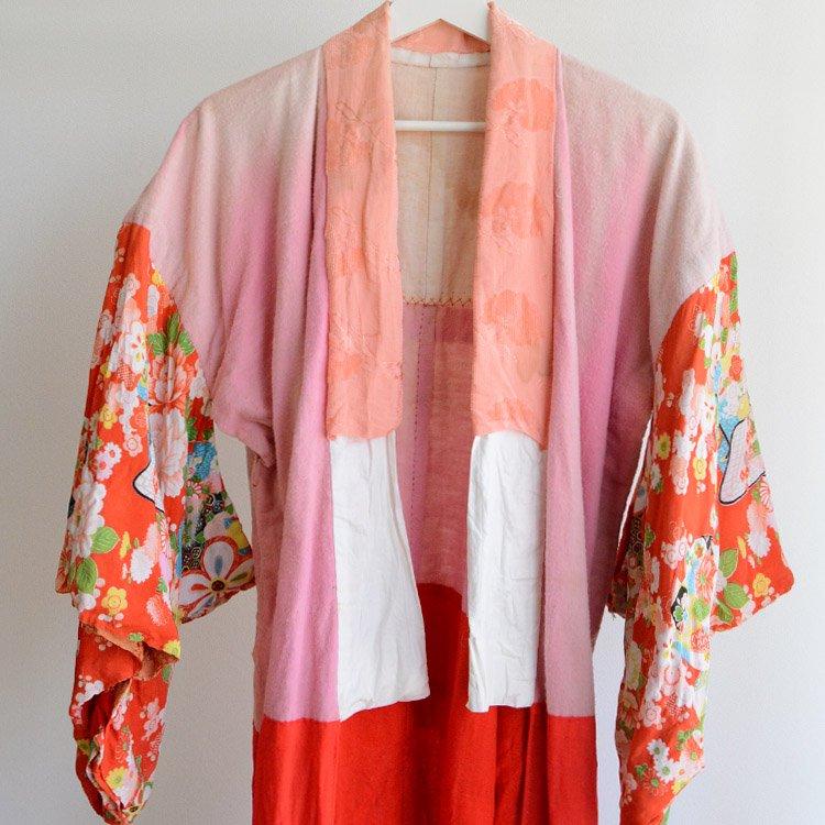 長襦袢 クレイジーパターン アンティーク着物 ジャパンヴィンテージ 昭和 | Juban Women Japanese Vintage Kimono Crazy Pattern