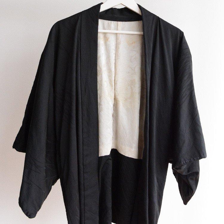 黒羽織 着物 一つ紋 ジャパンヴィンテージ 略礼装 | Black Haori Kimono Jacket Japan Vintage