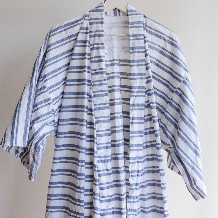 着物 ボーダー 木綿 縞模様 ジャパンヴィンテージ 昭和 オックスフォード 2 | Kimono Cotton Japanese Vintage Stripe Oxford