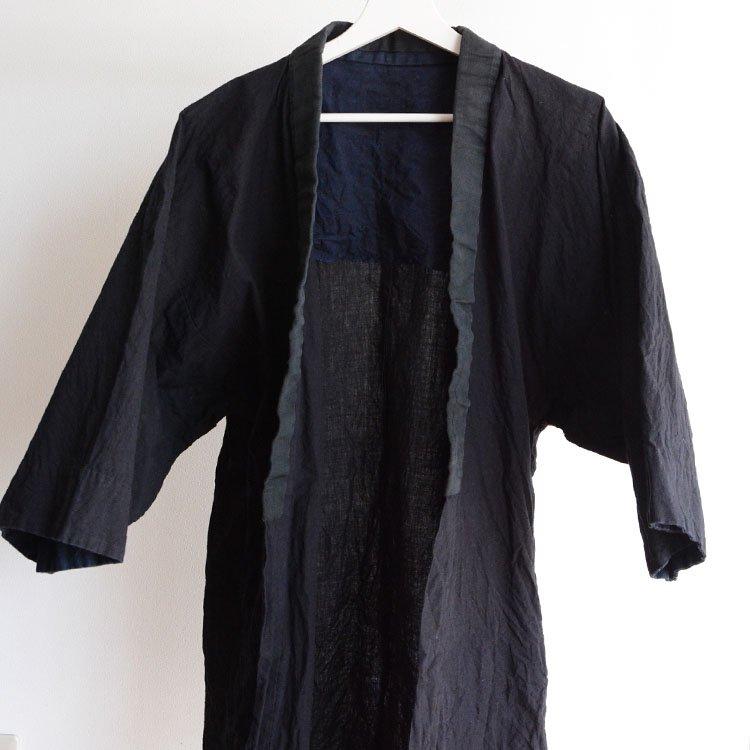 半纏 無地 ジャパンヴィンテージ アンティーク着物 昭和初期〜中期頃   Hanten Jacket Plain Color Japan Vintage Kimono Showa