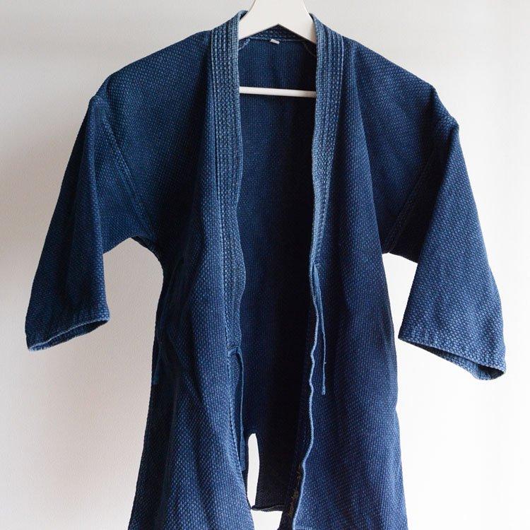 剣道着 藍染 刺し子 ジャパンヴィンテージ 昭和〜平成 | Kendo Jacket Sashiko Cloth Indigo Japan Vintage Showa Heisei