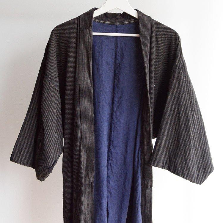 野良着 古着 木綿 着物 縞模様 ジャパンヴィンテージ 30〜40年代 | Noragi Jacket Japan Vintage Kimono Cotton Stripe